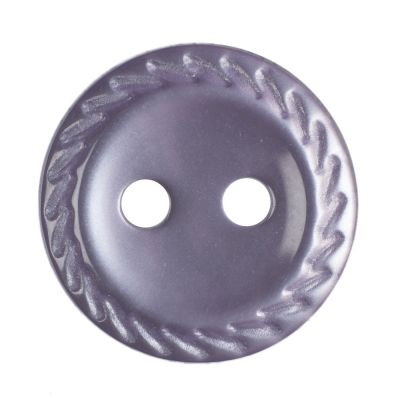 Cut Edge Round Poyester 2 Hole Button - Lilac - 11mm / 18L