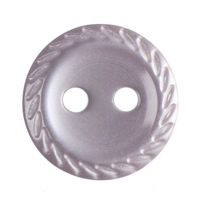 Cut Edge Round Poyester 2 Hole Button - Pale Pink - 11mm / 18L