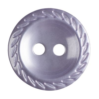 Cut Edge Round Poyester 2 Hole Button - Lilac - 14mm / 22L