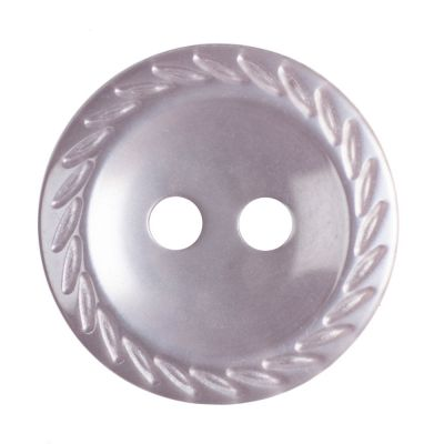 Cut Edge Round Poyester 2 Hole Button - Pale Pink - 14mm / 22L