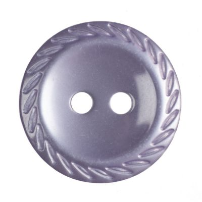 Cut Edge Round Poyester 2 Hole Button - Lilac - 16mm / 26L