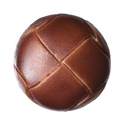 Imitation Leather Shank Russet Button 19mm