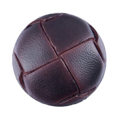 Imitation Leather Shank Brown Button 19mm