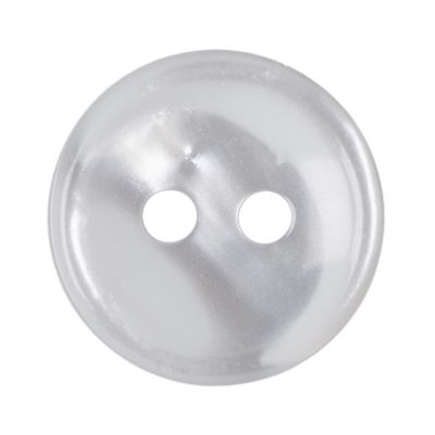 Round White Polyester Button 2 Hole 12mm