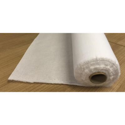 Remnant - Fusible Cotton Woven Interlining - Medium - White - 185cm x 112cm