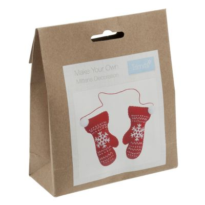 Trimits Felt Christmas Decoration Kit: Pair Of Mittens