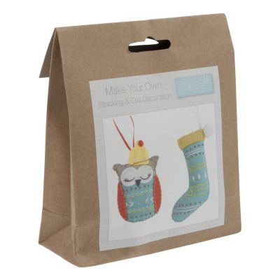 Trimits Felt Christmas Decoration Kit: Stocking & Owl
