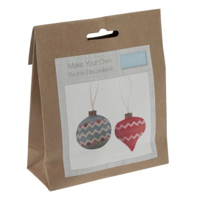Trimits Felt Christmas Decoration Kit: Pair Of Baubles