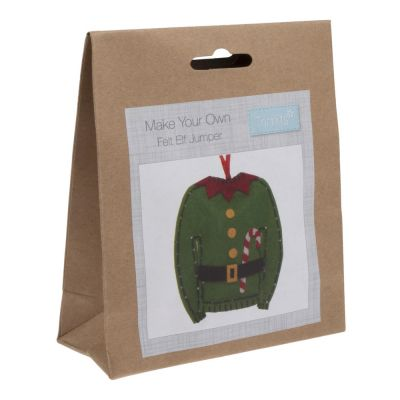 Trimits Felt Christmas Decoration Kit: Elf Jumper
