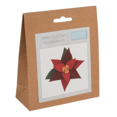 Trimits Felt Decoration Kit: Christmas: Poinsettia Brooch