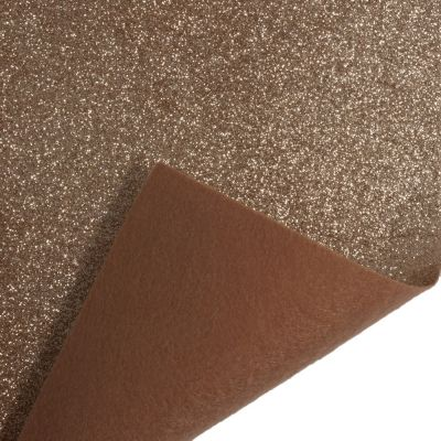 Glitter Acrylic Craft Felt Fabric 90cm Wide - Rose Gold