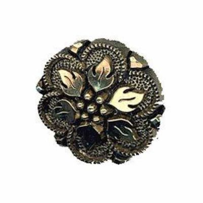 Gilt Flower Shank Buttons 13mm