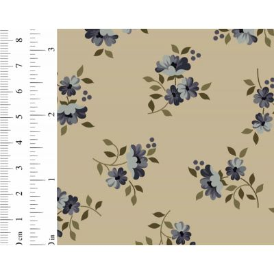 Ginger Lily Studio Lincoln Lane Small Floral Grey Cut Length