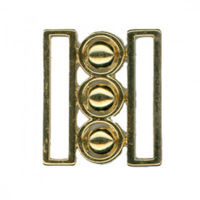 Remnant - 1 pair x Nurses Buckle/Clasp - Gold - 50mm - Old Stock