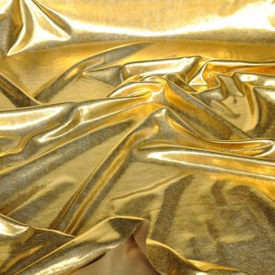 Metallic Gold Effect Stretch Dance Wear