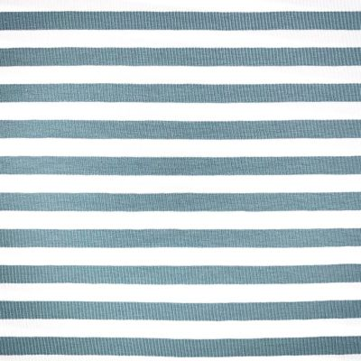 Yarn Dyed Cotton Jersey Knit - Green Stripe