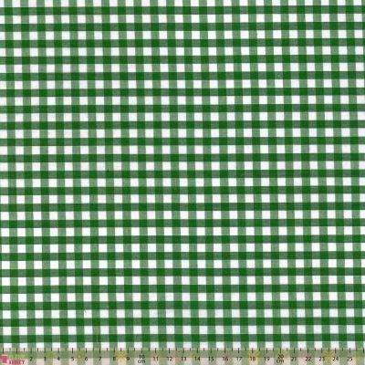 Polycotton - Gingham Green