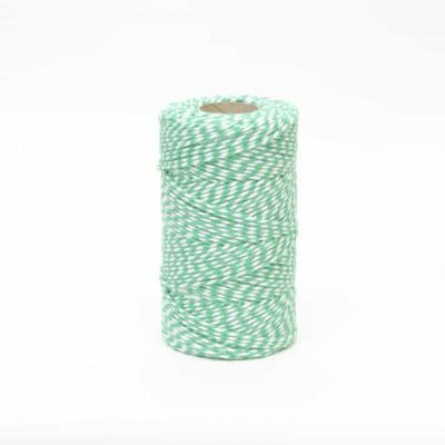 Bakers Twine Green & White - 10m Length