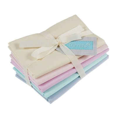 Trimits Fat Quarter Bundle - Pastel - 5 Fabrics