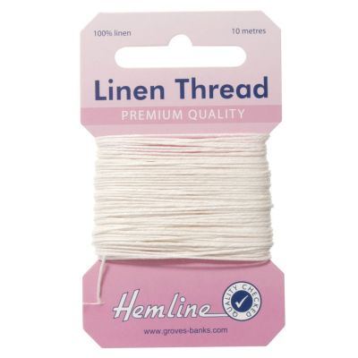 100% Linen Thread White 10mtrs