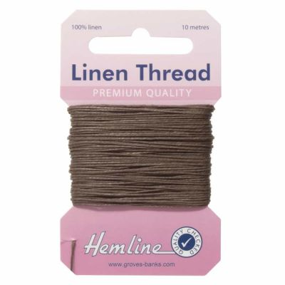 100% Linen Thread Brown 10mtrs