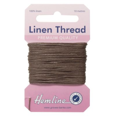 100% Linen Thread Khaki 10mtrs