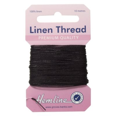 100% Linen Thread Black 10mtrs