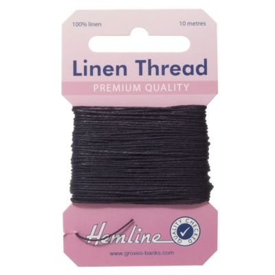 100% Linen Thread Navy 10mtrs