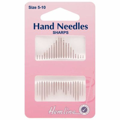 Assorted Hand Sewing Needles 12 Pack Sizes 5-10
