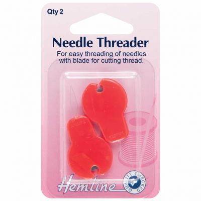 Hemline Needle Threader With Cutter 2 Pack