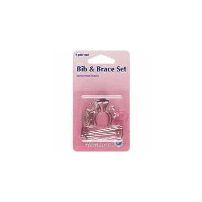 Bib And Brace Set: Nickel - 40mm