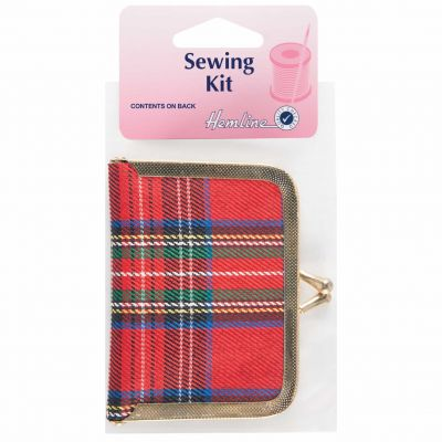 Hemline Purse Styled Travel Sewing Kit