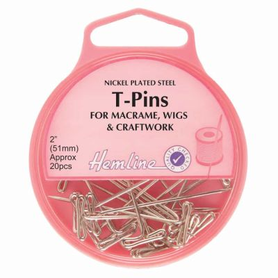 Hemline T-Pin Nickel 51mm 20pcs