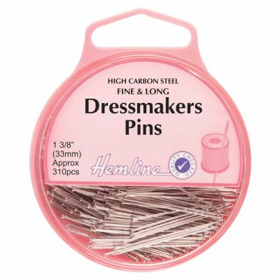 Hemline Dressmaking Extra Fine Pins 33mm, 230pcs