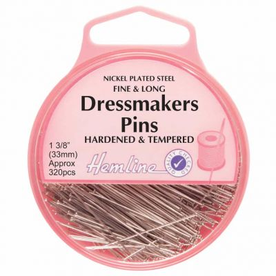 Hemline Hardened And Tempered Dressmaking Extra Fine Pins 33mm, 320pcs