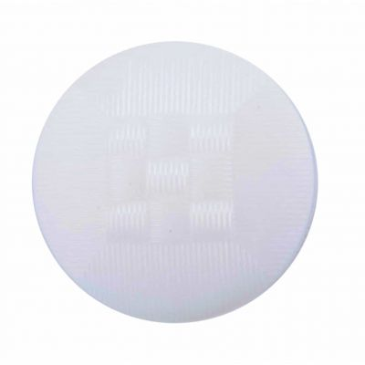 Patterned Nylon Shank Buttons 15mm White