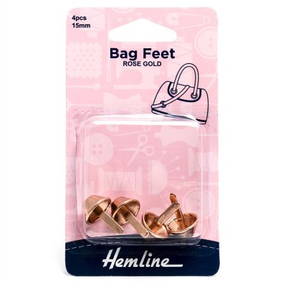 Hemline Bag Feet - 15mm Rose Gold - 4 Pack
