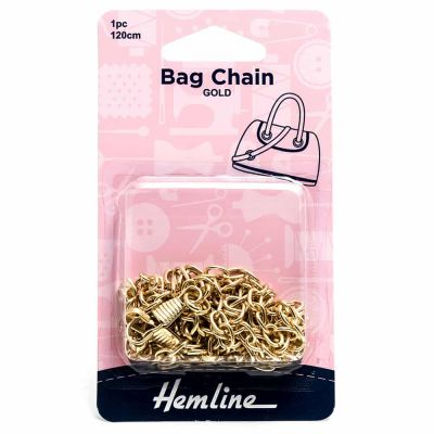 Hemline Bag Chain - 120cm Gold