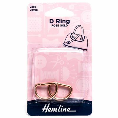 Hemline D Ring - 20mm Rose Gold