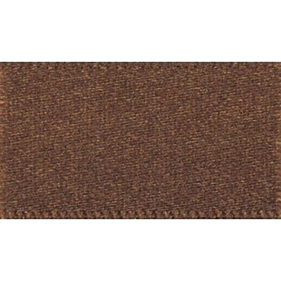 Berisfords Dark Brown Double Satin Ribbon - All Widths