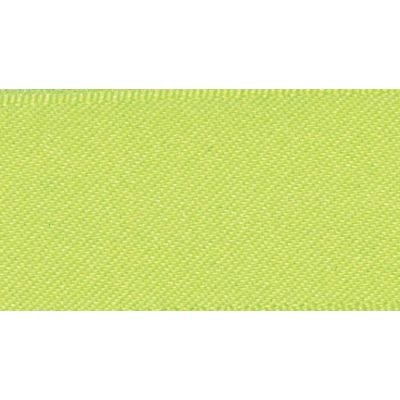 Berisfords Fluorescent Yellow Double Satin Ribbon - All Widths