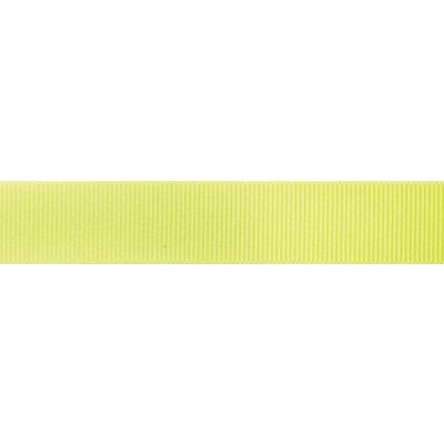Berisfords Fluorescent Yellow Grosgrain Ribbon - All Widths
