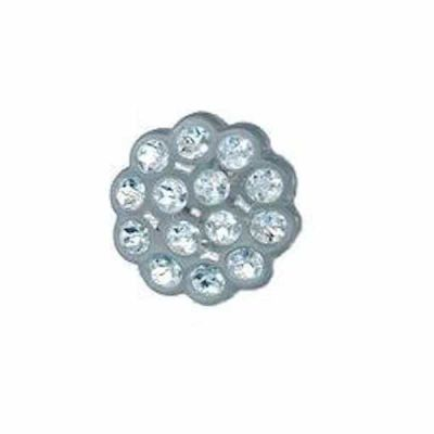 Round Set Imitation Diamante Button 15mm - Crystal
