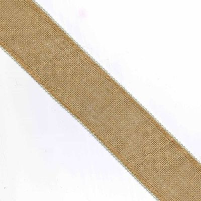 Hessian Trim With Beaded Edges - 75mm Wide