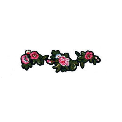 Large Embroidered Motif - Floral Garland - 19cm