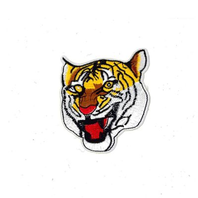 Medium Embroidered Motif - Tiger - 8cm