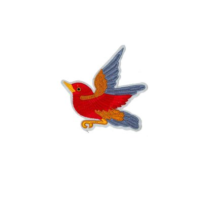 Medium Embroidered Motif - Bird - 10cm