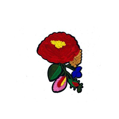 Medium Embroidered Motif - Vibrant Floral - 13cm