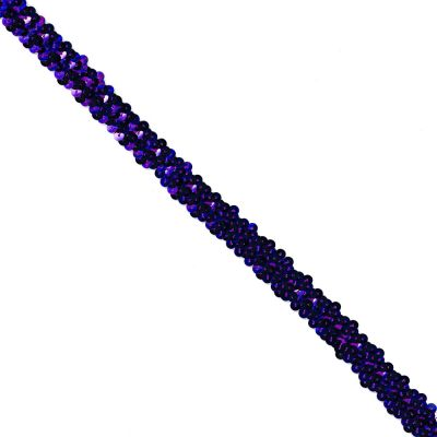 Sequins Stretch Trim - 20mm Wide - Purple