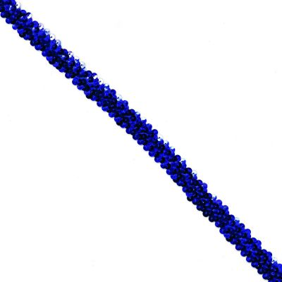 Sequins Stretch Trim - 20mm Wide - Royal